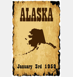 Alaska admission to the union vector