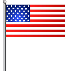 american flag for independence day realistic vector image