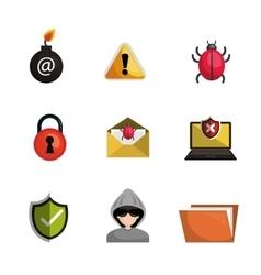 antivirus security file data system design vector image