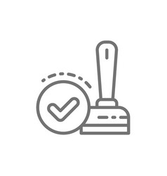 approved check mark stamp verification vector image