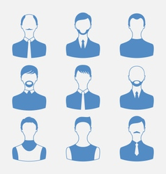 avatars set front portrait males isolated on vector image