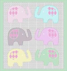 Baby Elephant clip art set vector