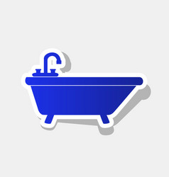 bathtub sign new year bluish vector image vector image