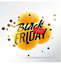 Black friday sale background with yellow and vector