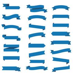 blue ribbon set inisolated white background vector image