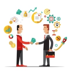 Business Metaphors Handshake Investment Partner vector