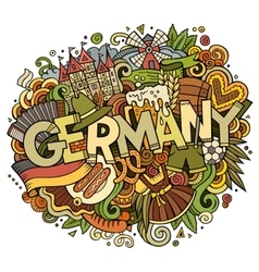 Cartoon cute doodles germany vector