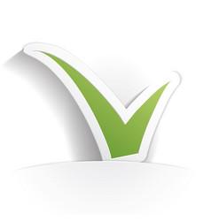 check icon paper vector image