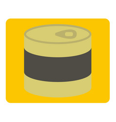 Closed tin can icon isolated vector