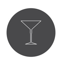 Cocktail glass icon outline vector image