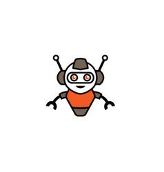creative robot logo vector image