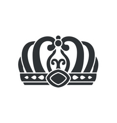 Crown in futuristic style with complicated design vector