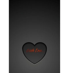 Dark heart background vector