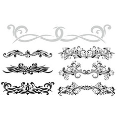 Dividers floral decorative ornaments collection vector