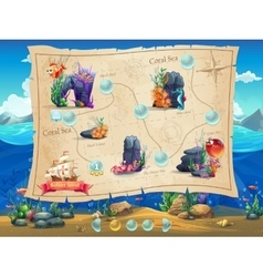 Fish World - example screen levels vector image