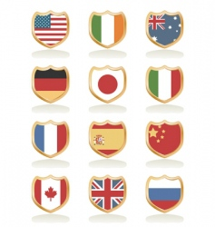 flag shields vector image