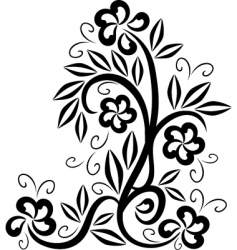 floral tattoo symbol vector image