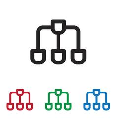 framework icon vector image