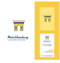 Gate creative logo and business card vertical vector