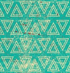 Grunge geometric seamless pattern vintage repeat vector
