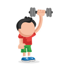 hand-drawn cartoon of man standing pumping vector image