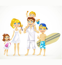 happy family dad mom little child daughter and vector image