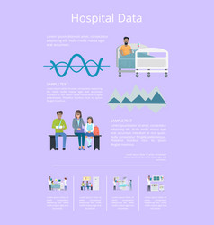 hospital data and statistics vector image