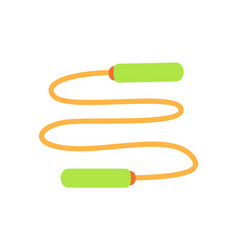 Jumping rope exercise icon vector
