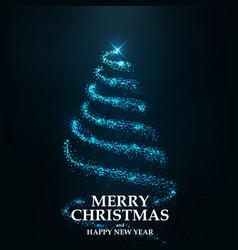 merry christmas card- christmas tree vector image