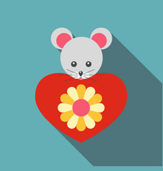 Mouse toy icon flat style vector