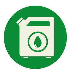 Oil galon tank icon vector