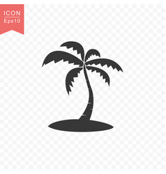 palm tree icon simple flat style vector image