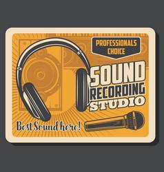 professional music dj sound recording studio vector image