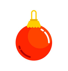 Red plain christmas ball vector