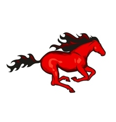 Red running horse vector