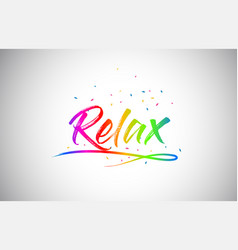 Relax creative vetor word text with handwritten vector