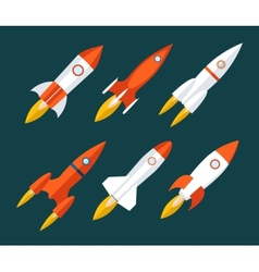 Rocket icons Start Up and Launch Symbol for New vector
