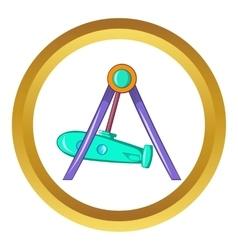 Rocket swing icon vector