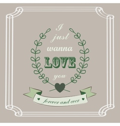 Romantic card in vintage style vector image