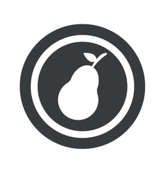 Round black pear sign vector image