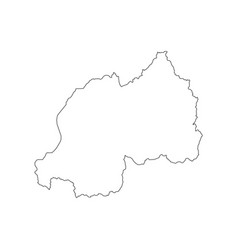 rwanda map outline vector image