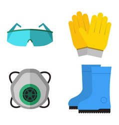 safety industrial gear tools flat vector image