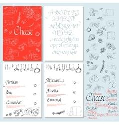 Set Cheese Menu vector image