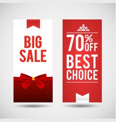 set of two christmas big sale banners vector image