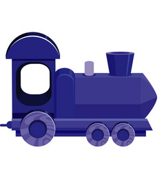 Single picture blue train on white background vector