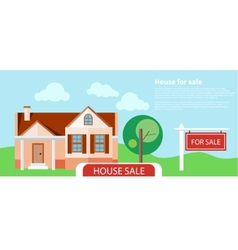 Sold home for sale sign vector