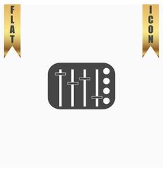Sound Mixer Console vector