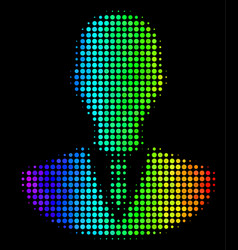 spectral colored dot manager icon vector image
