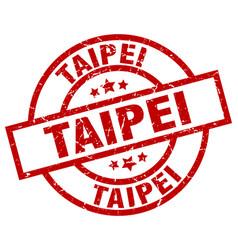 Taipei red round grunge stamp vector
