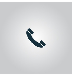 telephone handset icon vector image